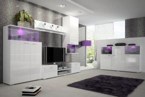 Luis - Obývacia stena, RTV komoda, komoda (biela)