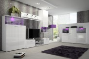 Luis - Obývacia stena, RTV komoda, komoda, svetlo (biela)