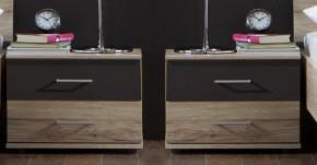 Madrid - nočný stolík 2x (dub san remo/lava čierna)