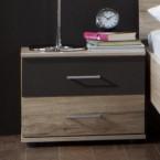 Madrid - nočný stolík (dub san remo/lava čierna)