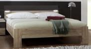 Madrid - posteľ 160 cm (dub san remo/lava čierna)