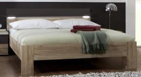 Madrid - posteľ 180 cm (dub san remo/lava čierna)