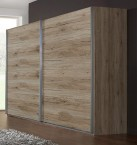 Madrid - šatníková skriňa 2, 2x posuvné dvere (dub san remo)