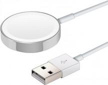 Magnetická nabíjačka pre Apple Watch verzie 1-5, 1m, biela