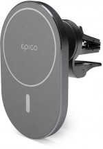 Magnetický držiak do auta Epico Elipse iPhone 12 series, sivý