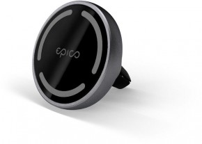 Magnetický držiak do auta Epico iPhone 12 series, sivý
