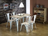 Magnum - Jedálenský stôl obdĺžnik 120x60 cm (retro biela)