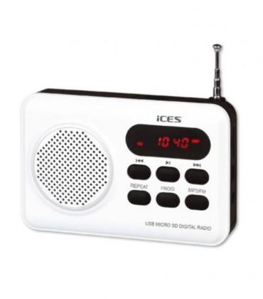 Malé rádiá Rádio ICES IMPR-112, biele