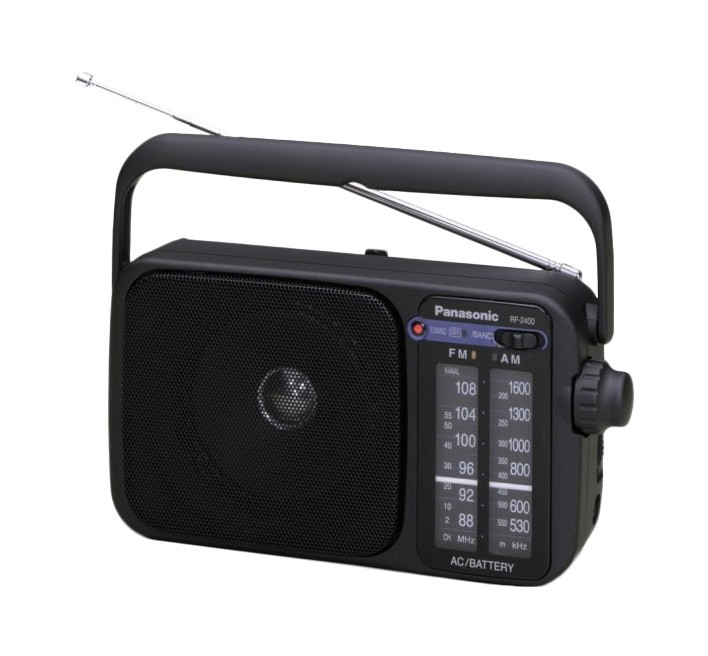 Malé rádiá Rádio Panasonic RF-2400DEG-K, čierne