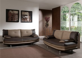 Maliboo-sedacie set (brown-hl.látka/taupe-dopln.látka)