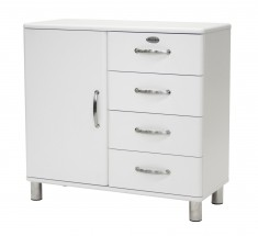 Malibu - komoda, 1x dvere, 4x zásuvka