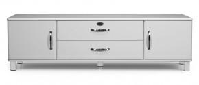 Malibu - TV stolík (biela, 2x dvere,1x zásuvka,1x sklopné dvere)