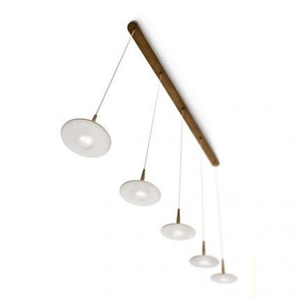 Mambo - Stropné osvetlenie LED, 118,2cm (bronz)
