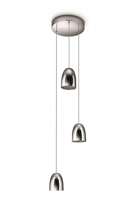 Mambo - Stropné osvetlenie LED, 17,9cm (lesklý chrom)