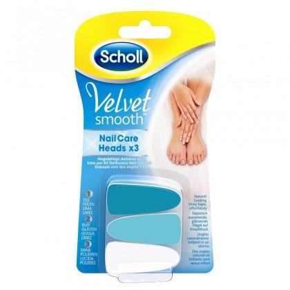 Manikúry / pedikúry SCHOLL VelvetSmooth náhr.hlavice do el.pilníku na nechty, modré