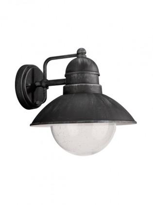 Mano - Vonkajšie osvetlenie E 27, 22,2cm (čierna a kovově šedá)