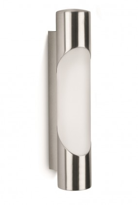 Mano - Vonkajšie osvetlenie E 27, 6,4x31,9x8,7 (nerezová ocel)