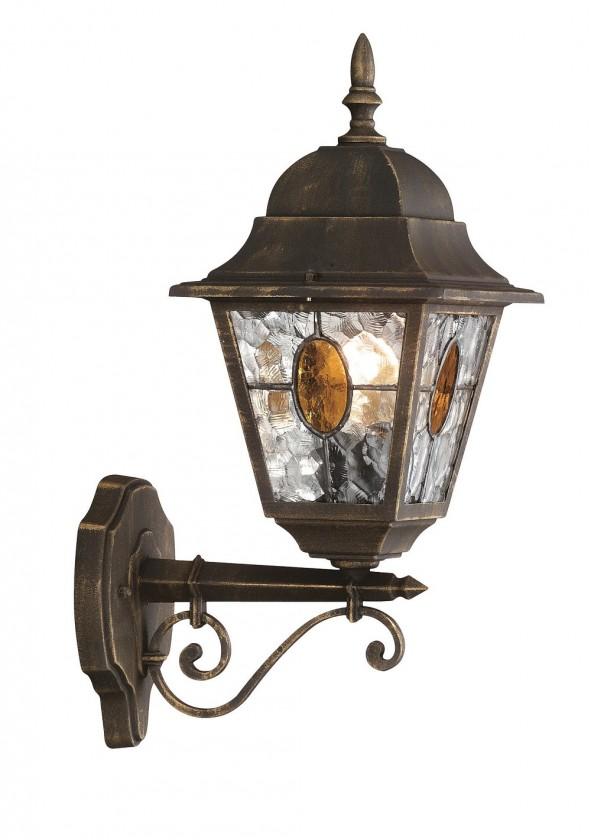 Mano - Vonkajšie osvetlenie E27, 18x45x26 (bronzová patina)