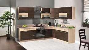 Marina - Rohová kuchyne 285x210 (rijeka tmavá/rijeka svetlá)