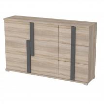 Markus - Komoda, 3x zásuvka, 2x dvere (dub sonoma)