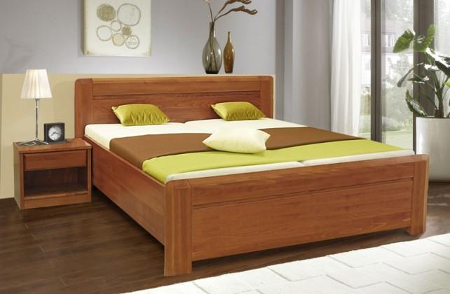 Masívne Elza 3 - Rám postele 200x180 (buk, morenie višňa)