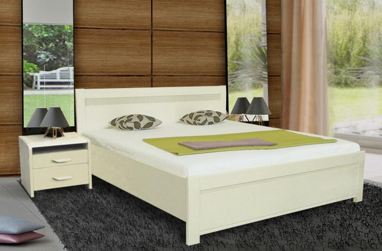 Masívne Nada 2 - rám postele 200x160, úložný priestor, výklopný rošt