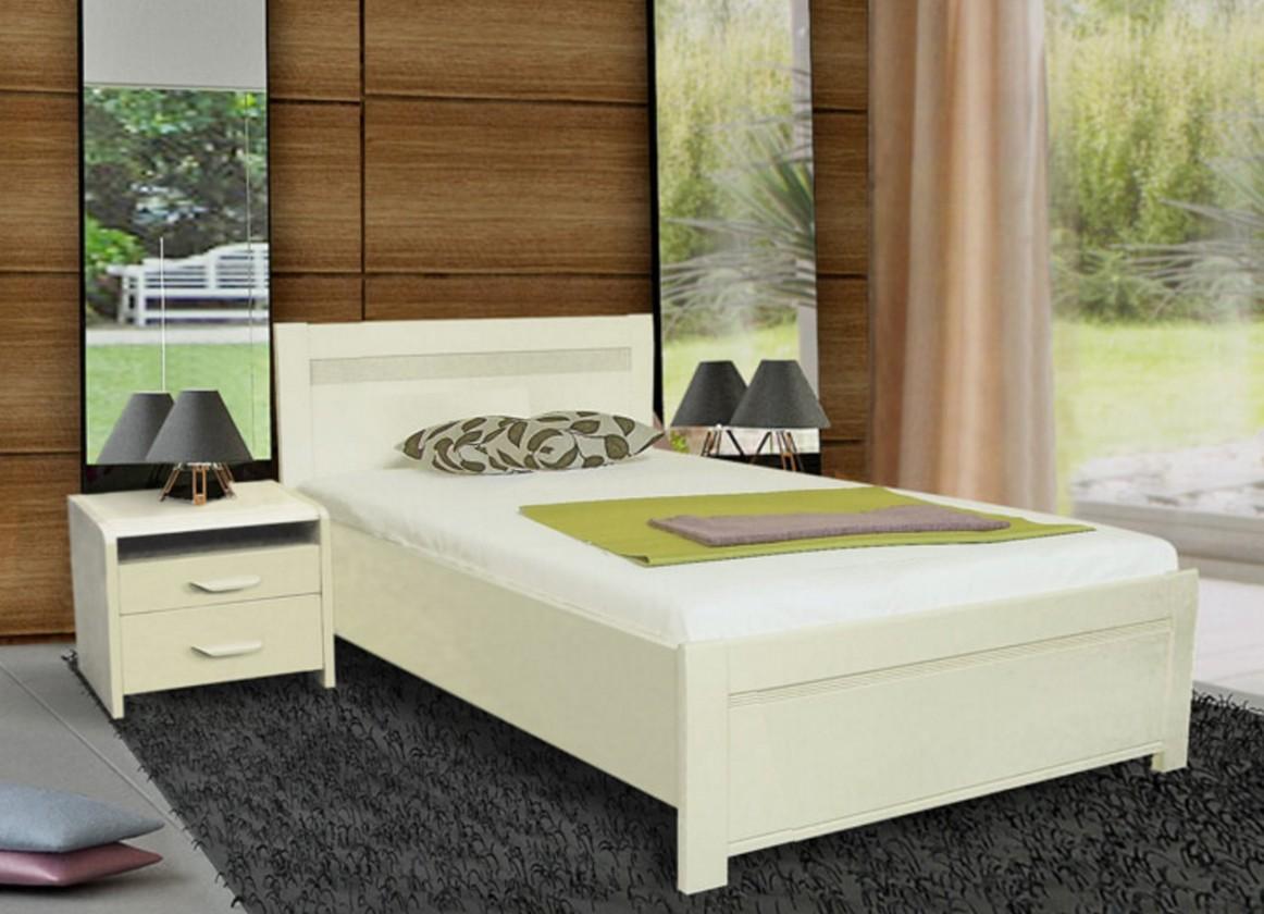 Masívne Nada 2 - rám postele 200x90, úložný priestor, výklopný rošt