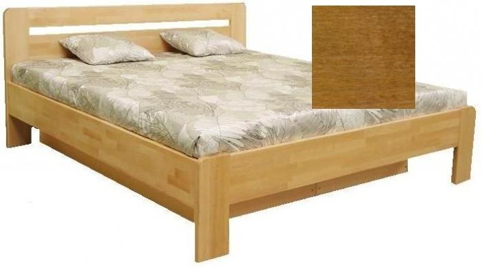 Masívne postele Kars 2 - 180x200 cm (orech svetlý)