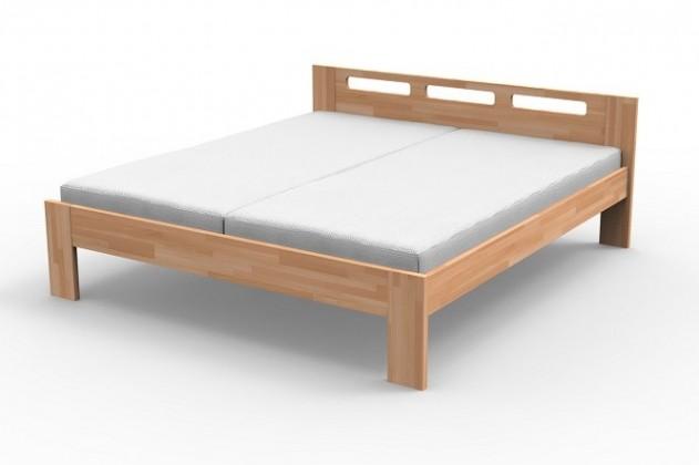 Masívne postele Rám postele Augusta, 160x200, masív buk, prírodný lak