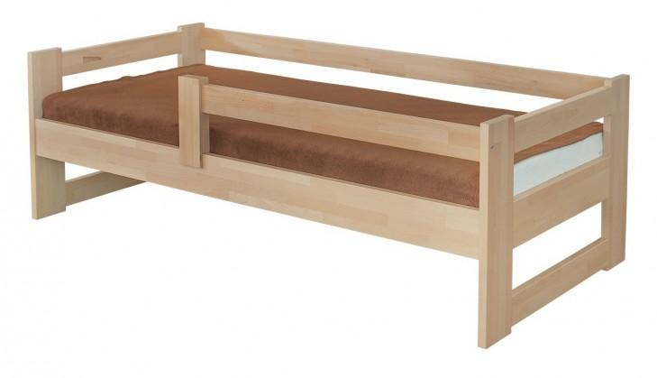 Masívne Sante - rám postele so zábranou (rozmer ložnej plochy - 200x90)