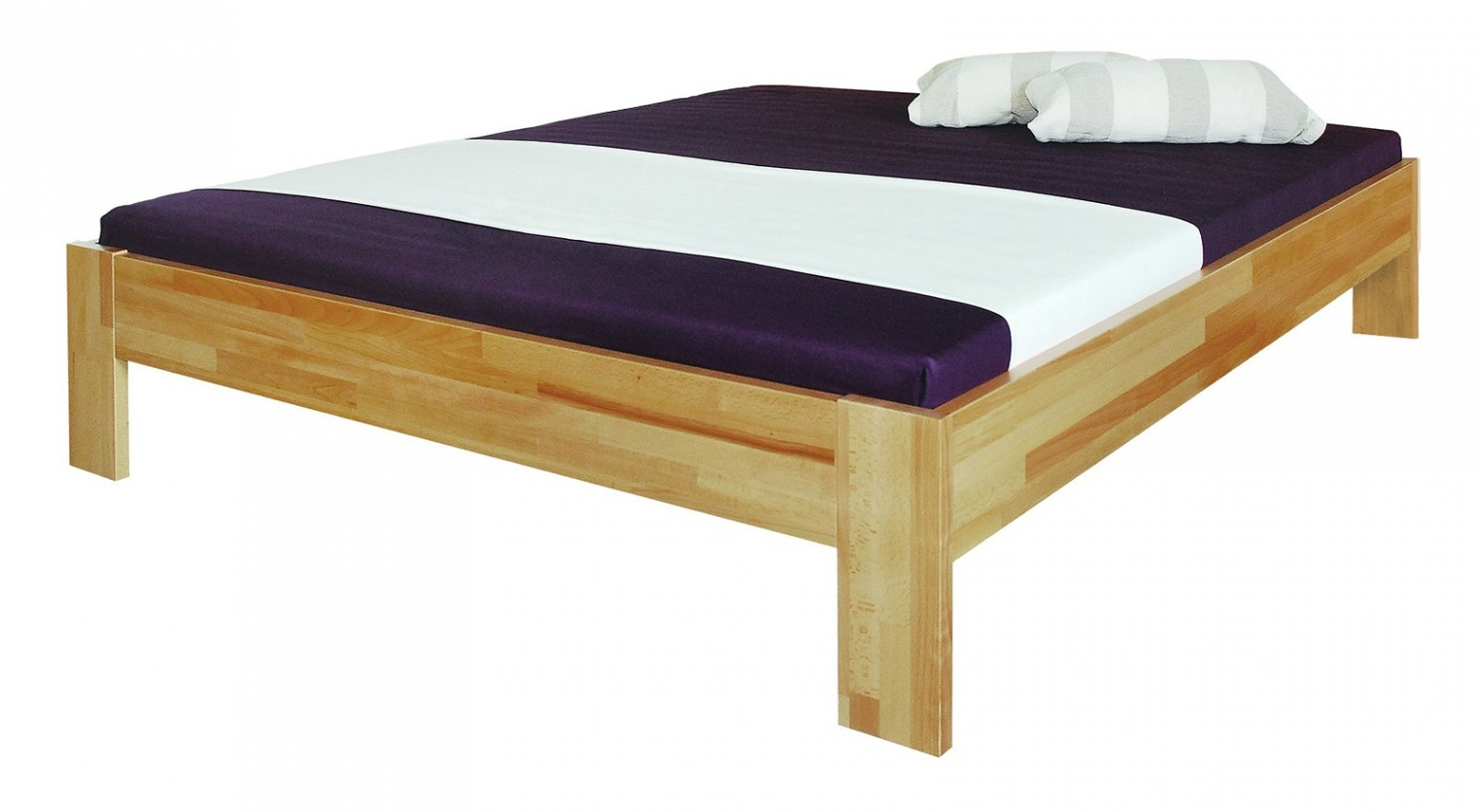 Masívne Uni - rám postele (rozmer ložnej plochy - 200x140)