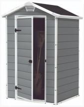 Matador - Záhradný dom (128x94 cm, biela, sivá)