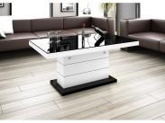 Matera Lux - Konferenčný stolík (čierna lesk/biela lesk)