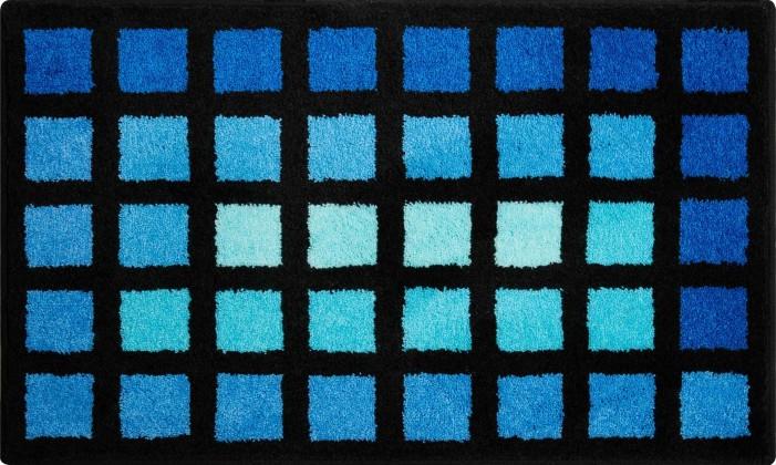 Matrix - Kúpeľňová predložka 60x100 cm (modrá)