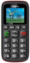 Maxcom MM428 Dual SIM, čierna/červená