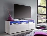 Mediathek - TV stolík 318 (biela mat/biela vysoký lesk)