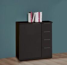 Medina - Komoda, 4x zásuvka, 1x dveře (lava čierna)