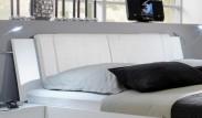 Medina - Polstrované čelo na posteľ 160 cm (alpská biela)