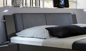 Medina - Polstrované čelo na posteľ 160 cm (lava čierna)