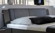 Medina - Polstrované čelo na posteľ 180 cm (lava čierna)