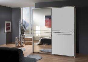 Medina - Šatníková skriňa, 2x posuvné dvere (alpská biela)