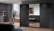 Medina - Šatníková skriňa, 3x posuvné dvere (lava čierna)