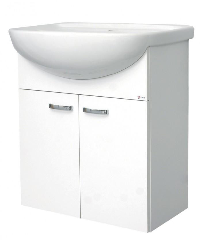 Melbourne - Skrinka s umývadlom 55cm (biela/biela)