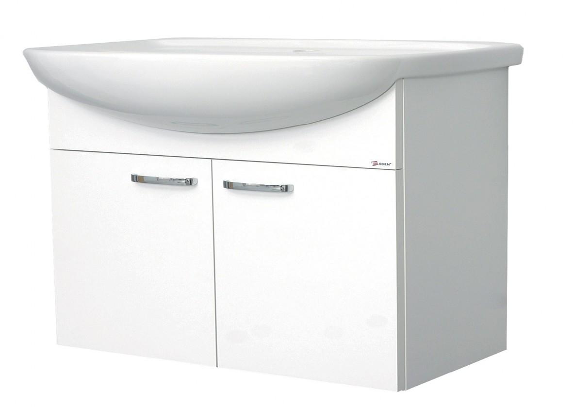Melbourne - Skrinka s umývadlom 80cm (biela/biela)
