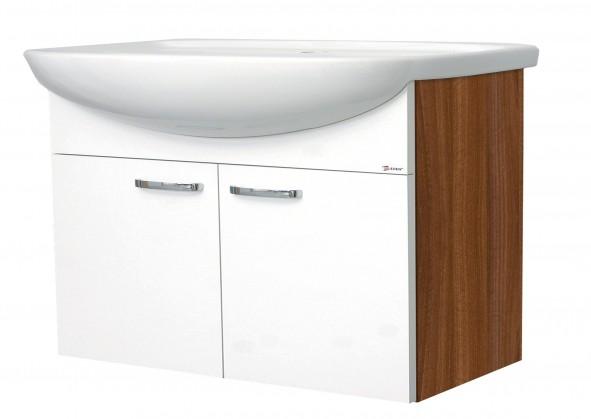 Melbourne - Skrinka s umývadlom 80cm (orech/biela)
