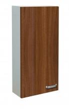 Melbourne - Závesná skrinka horná, 1x dvierka (biela/orech)