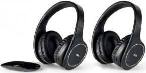 Meliconi 497320 HP EASY Digital Bundle,2x slúchadlá, 1x základňa