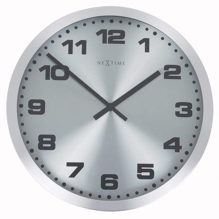 Mercure - hodiny, nástenné, guľaté (nerez, sklo, čierne)