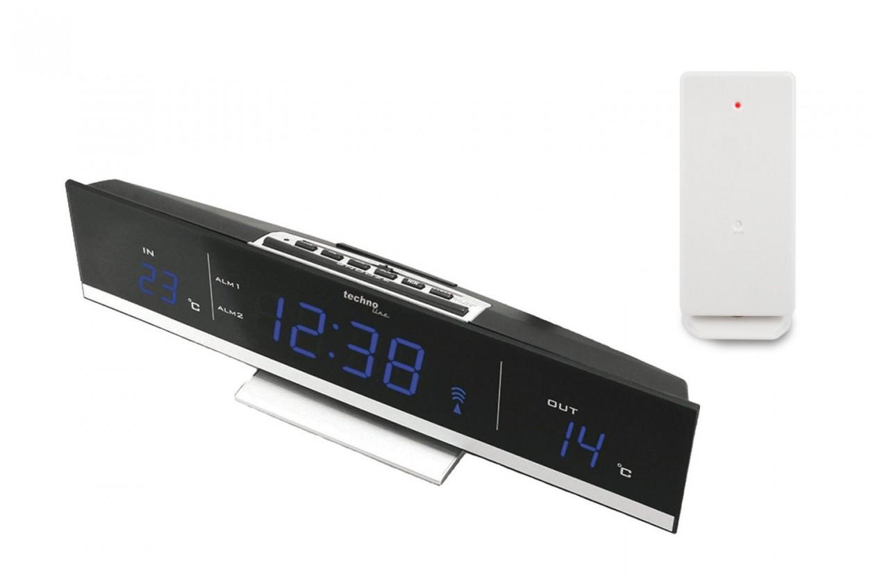Meteostanice Digitální teploměr s budíkem s LED displejem TechnoLine WS6810B