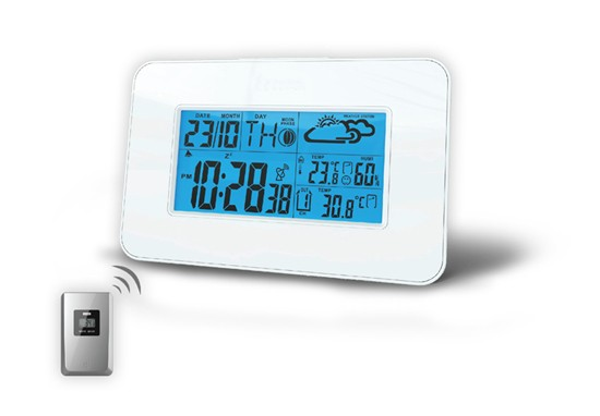 Meteostanice Solight meteostanice,veľký LCD,teplota,vlhkosť,RCC,biela,TE66